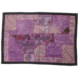 Wandteppich Indischer Wandteppich Patchwork.., Guru-Shop, Höhe 65 mm 90 cm x 65 mm