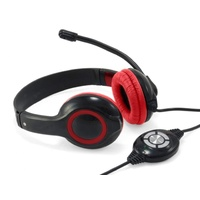 Conceptronic Kopfhörer & Headset Kopfband Schwarz, Rot