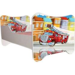 Kinderbett Fire inkl Rollrost + Matratze 70*140 cm