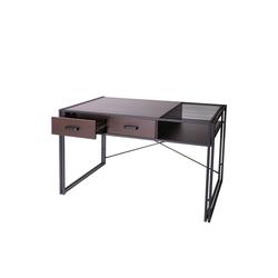 MCW Schreibtisch MCW-H91, Industrie-Design, Ablage für Dokumente braun