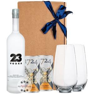 Vodka 23 Geschenkset mit Tonic & Gläsern