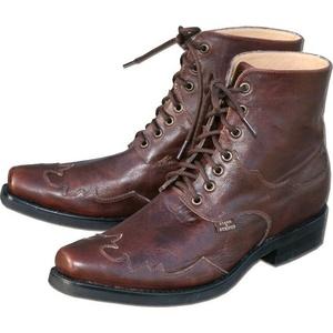 Stiefelette Country Western-boots Herren Leder Braun Cowboy-stiefel Henderson