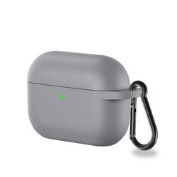 CoverKingz Etui Hülle für Apple AirPods 3 / AirPods Pro Silikon Bumper Case Cover Tasche Grau Apple AirPods Pro / AirPods 3 grau