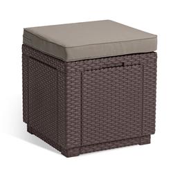 Keter Hocker Hocker Cube (1 St), 1x Hocker Cube braun