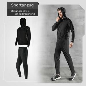 Herren Sportanzug Jogginganzug Laufanzug atmungsaktiv & leicht Laufhose Hoodie