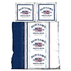 Partnerbettwäsche USA, One Home, America Flag