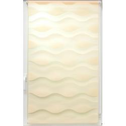 Doppelrollo Doppelrollo Welle, sunlines, Lichtschutz, ohne Bohren, freihängend, Effektiver Sichtschutz beige 140 cm x 150 cm