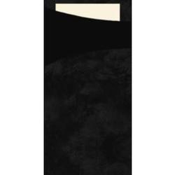 DUNI Sacchetto Serviettentaschen, Tissue, Praktische Bestecktasche, 1 Karton = 5 x 100 Stück, schwarz