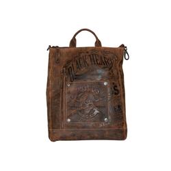 JACK'S INN 54 Cityrucksack Rob Roy, aus Leder, als Rucksack oder Umhängetasche tragbar