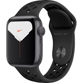 Apple Watch Series 5 Nike GPS 40 mm Aluminiumgehäuse space grau, Nike Sportarmband anthrazit/schwarz