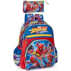 Spiderman Kinderrucksack Marvel Spiderman - Rucksack und Mäppchen (Reißverschluss, Jungen), Tragegurte