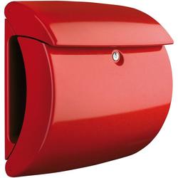 Burg Wächter Briefkasten Piano 886 R, in Klavierlack-Optik, Rot rot