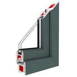 Bodentiefe Fenster Basaltgrau - Dreh-Kipp Fenster 2-fach / 3-fach Glas