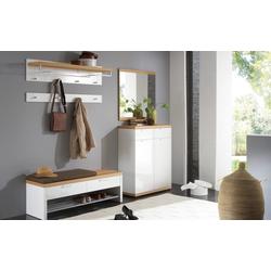 Voss Möbel Dielengarderobe Burgos in weiß/Eiche