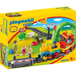 Playmobil® Konstruktions-Spielset Meine erste Eisenbahn (70179), Playmobil 1-2-3, Made in Europe bunt