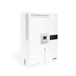 Gira 2401000, USB-Spannungsvers. 2f Verkaufspaket DE