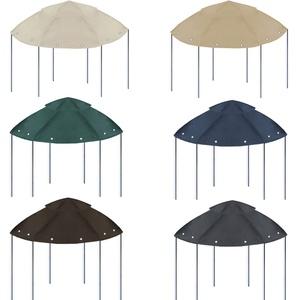 freigarten.de Ersatzdach für Pavillon Ø 350 [cm] Wasserdicht Material: Panama PCV Soft 370g/m2 extra stark Modell 4 (Beige)