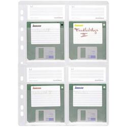 Durable Disketten Ordner-Hülle 4 Disketten 3,5 Zoll Transparent 5 St. 524319