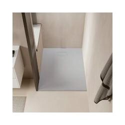 Duschwanne bodengleich PIATTO aus SoliCast® grau 90 cm x 150 cm