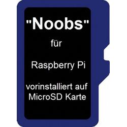 Raspberry Pi Foundation Speicherkarte Pi Micro SD Karte 16GB inkl. Noobs vorinstalliert blau