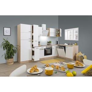 Küche Küchenzeile L-Form Winkelküche Leerblock 310x172 cm Eiche grau respekta