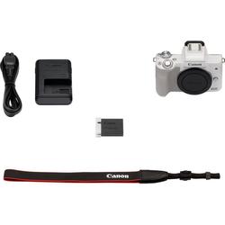 Canon EOS-M50 Body Systemkamera-Body (24,1 MP, NFC, WLAN (Wi-Fi), Bluetooth) weiß