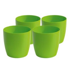 Gartenfreude Blumenkasten 4er Set Kunststoff Pflanzgefäß grün