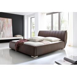 meise.möbel Polsterbett, mit Lattenrost und Bettkasten braun 218 cm x 240 cm x 40 cm