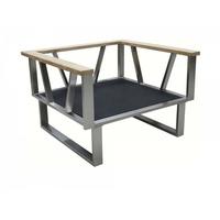Zebra Belvedere Lounge Rahmen Sessel