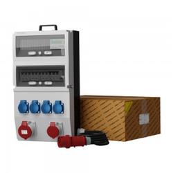Stromverteiler eXT-S/FI 32A 16A 4x230V Stromzähler und Kabel Doktorvolt 2339