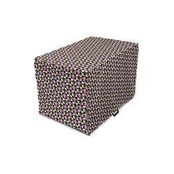 Abakuhaus Hundezwinger Hundekaefig Abdeckung, Hundebox Abdeckung, Fleur De Lis Checkered Pop-Art