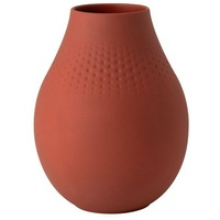Villeroy & Boch Vase Perle hoch Manufacture Collier terre rot 16,00 cm