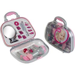 Klein Spielzeug-Frisierkoffer Koffer mit Braun Fön und Zubehör grau Kinder Kinderkosmetik -schmuck Basteln, Malen, Kosmetik Schmuck