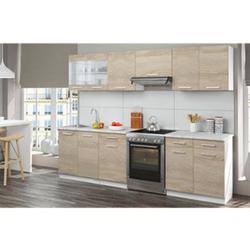 Vicco Küche Küchenzeile Küchenblock Einbauküche 270 cm Sonoma Eiche