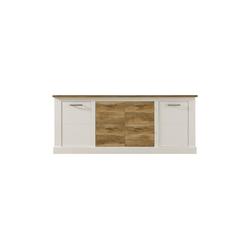 ebuy24 Sideboard Torono Sideboard 2 Türen und 4 Ablagen, weiss Stru