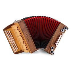 Heimat 3/II Harmonika G-C-F Nuss