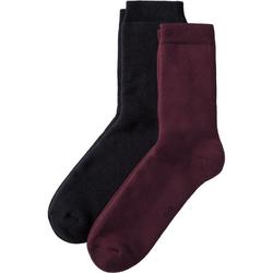 Frottee-Socken 2-er-Pack, rot, Gr. 43/45 - 43/45 - rot