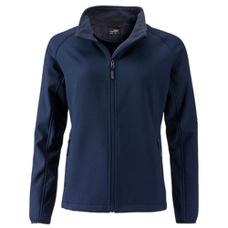 Damen Softshelljacke | James & Nicholson navy XL