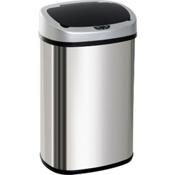 HOMCOM Abfalleimer mit Infrarotsensor silber 40,9 x 28,9 x 75 cm (LxBxH)   Automatik Mülleimer Kücheneimer Müll Abfall