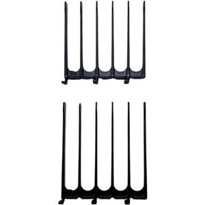 Original CombPal haarschneidekamm, Scherenschneider über Kamm Haarschneidewerkzeug, haare schneiden hilfe Haarschneideset, Barber Haircutting Comb Set(Schwarz Jumbo-Führungsaufsatz)