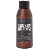 Redken Brews Shampoo, 3-in-1 50ml