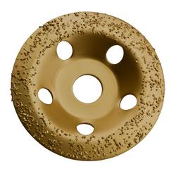 HM universal Topfscheibe 115 mm Schleiftopf Schleifteller für Gips Gummi Holz