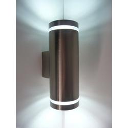 kalb LED Außen-Wandleuchte kalb LED 2x3W Wandleuchte Wandlampe Aussenleuchte Aussenlampe UP&DOWN EDELSTAHL GU10