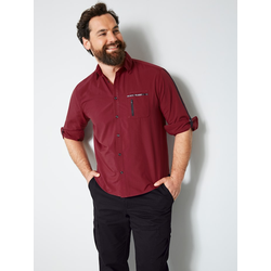 Hemd Men Plus Bordeaux/Schwarz