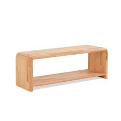 Massivholzbank für Bett Kernbuche Massivholz