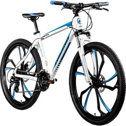 Galano Primal 650B Mountainbike Hardtail 27,5 Zoll MTB Mountain Bike Fahrrad Rad... 48 cm, weiß/blau