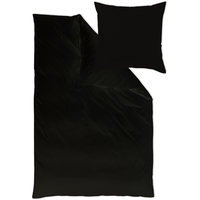 Curt Bauer Uni Mako-Satin schwarz (200x200+2x80x80cm)