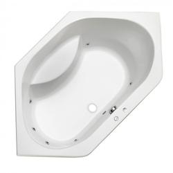 Ottofond Eckbadewanne Riga mit Whirlpoolsystem VIsion Weiß 130 x 130 x 45 cm