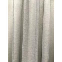Gardinenstoff Vorhang raumhoch uni grau blickdicht, Meterware