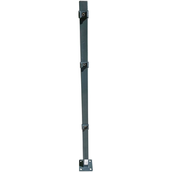 Peddy Shield Zaunpfosten, 90 cm Höhe, für Ein- und Doppelstabmatten grau